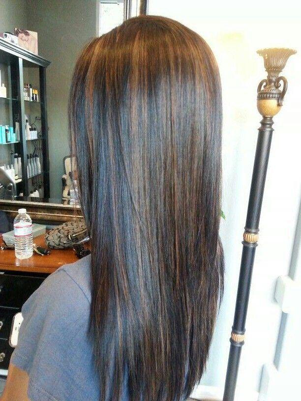 Caramel Highlights Balayage Straight Hair Straight Hair Highlights Straight Hairstyles