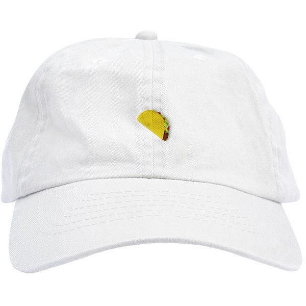 a345e484f8910 Taco Emoji Dad Hat Baseball Cap Low Profile ( 20) ❤ liked on Polyvore  featuring accessories
