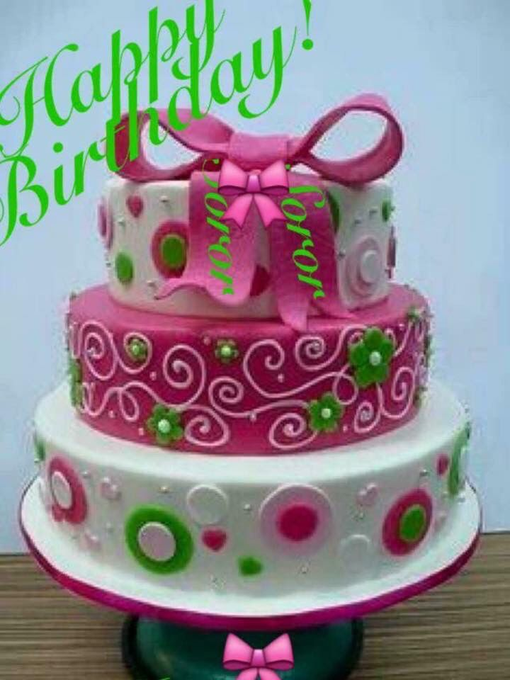Bday Cake Alpha Kappa Alpha Sorority Inc Items Pinterest