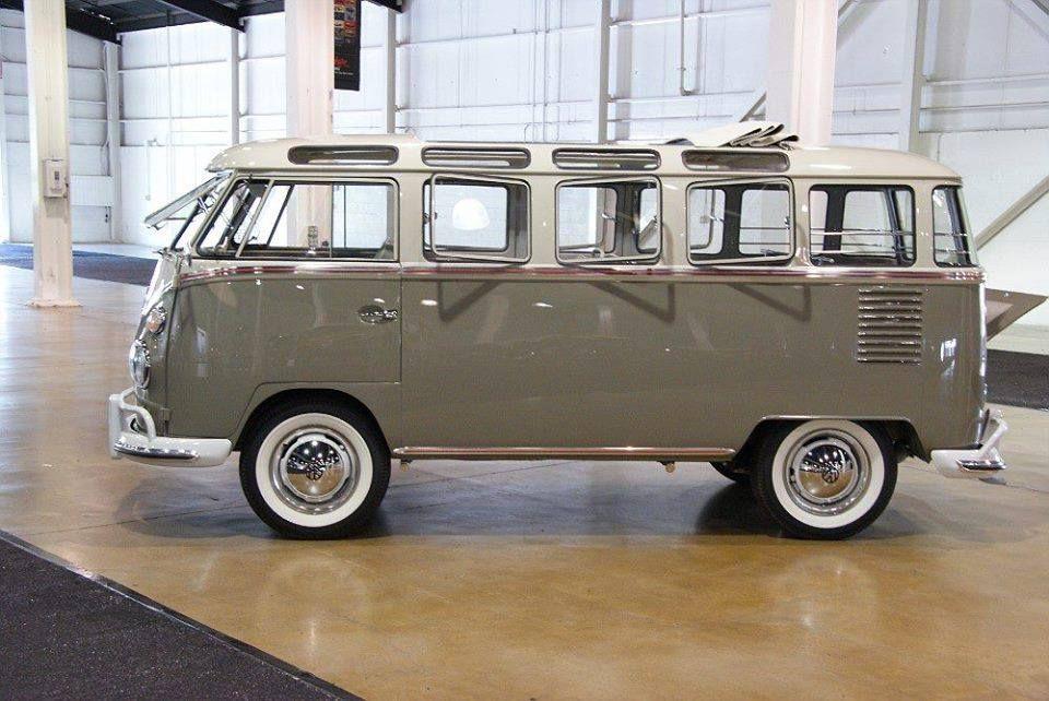 volkswagen van gray white 23 windows volkswagen van pinterest voitures fil lectrique. Black Bedroom Furniture Sets. Home Design Ideas