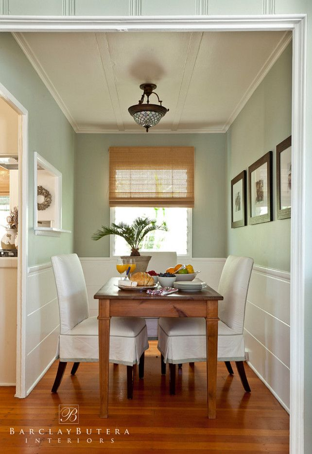 The Paint Color Is Benjamin Moore Tranquility Af 490 Country House Interior Cottage Interiors Coastal Kitchen Decor
