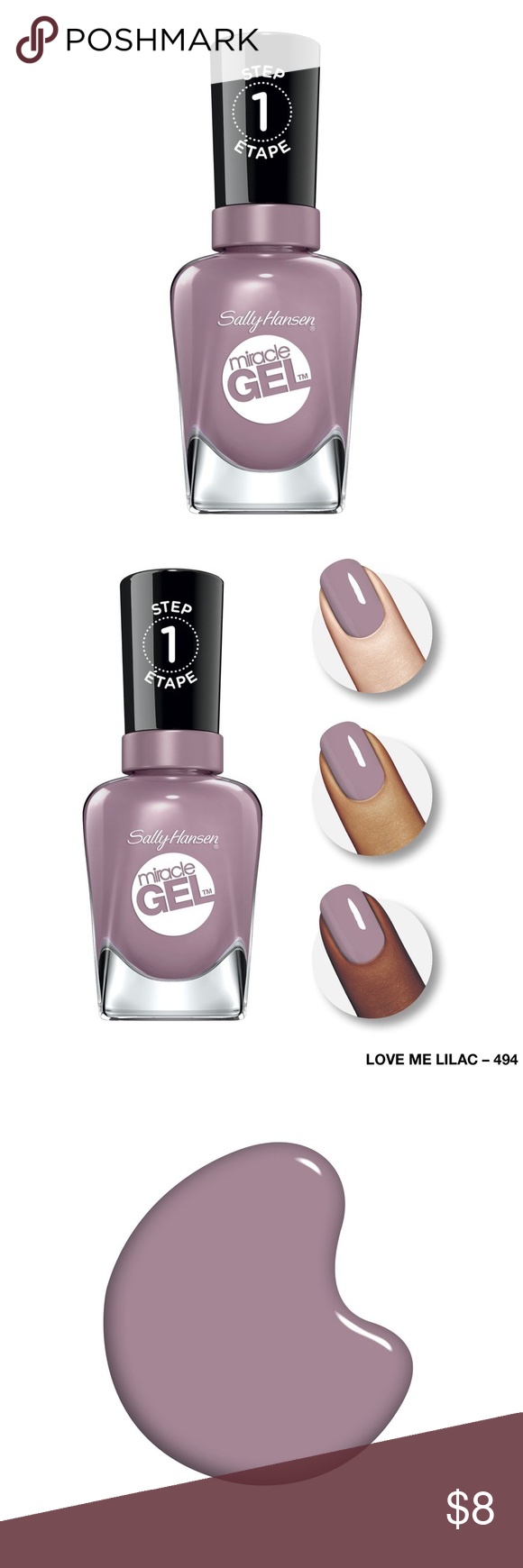 BNWT Sally Hansen Gel Nail Polish in Love Me Lilac Brand