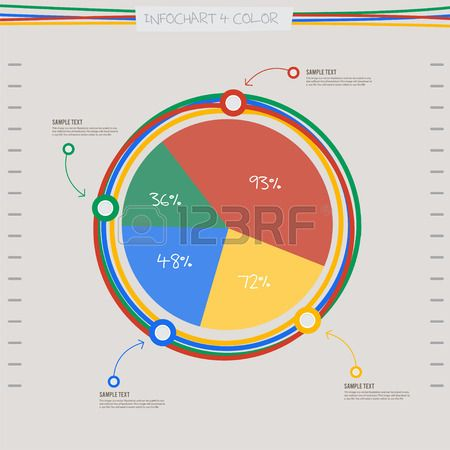 infographic arrow diagram graph chart in 4 color and line spiral - graph chart templates