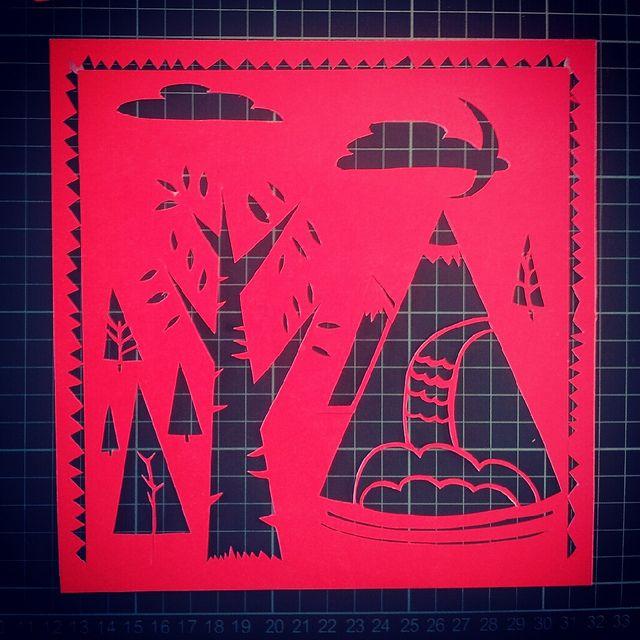 #Papercut #Neon by ☁ Caro Espíndola ☁, via Flickr