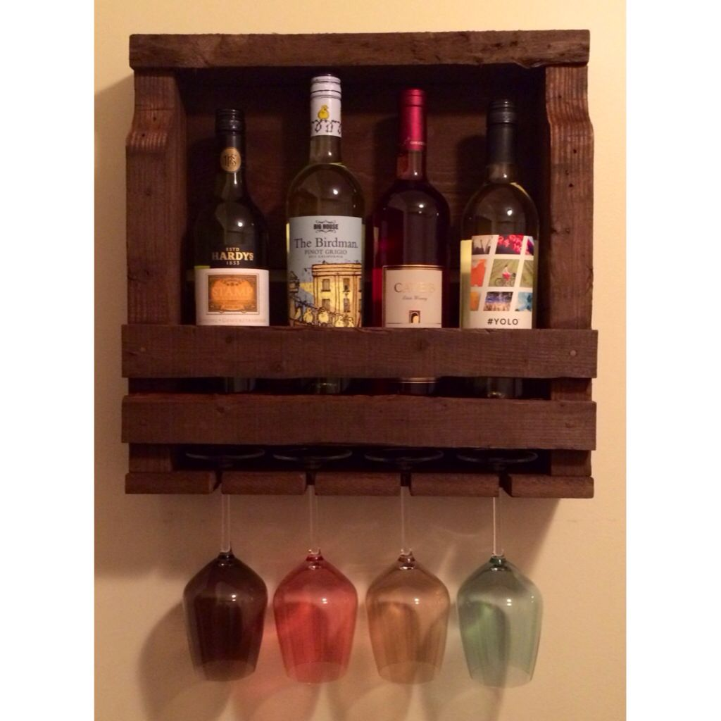 Recycled pallet wine rack - www.birdmanthewelder.com | Diy ...