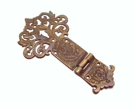 trunk hinges and latches | Ornate Hinge BRASS Hinge Huge Salvage Chic Rusty  Antique Hardware . - Trunk Hinges And Latches Ornate Hinge BRASS Hinge Huge Salvage