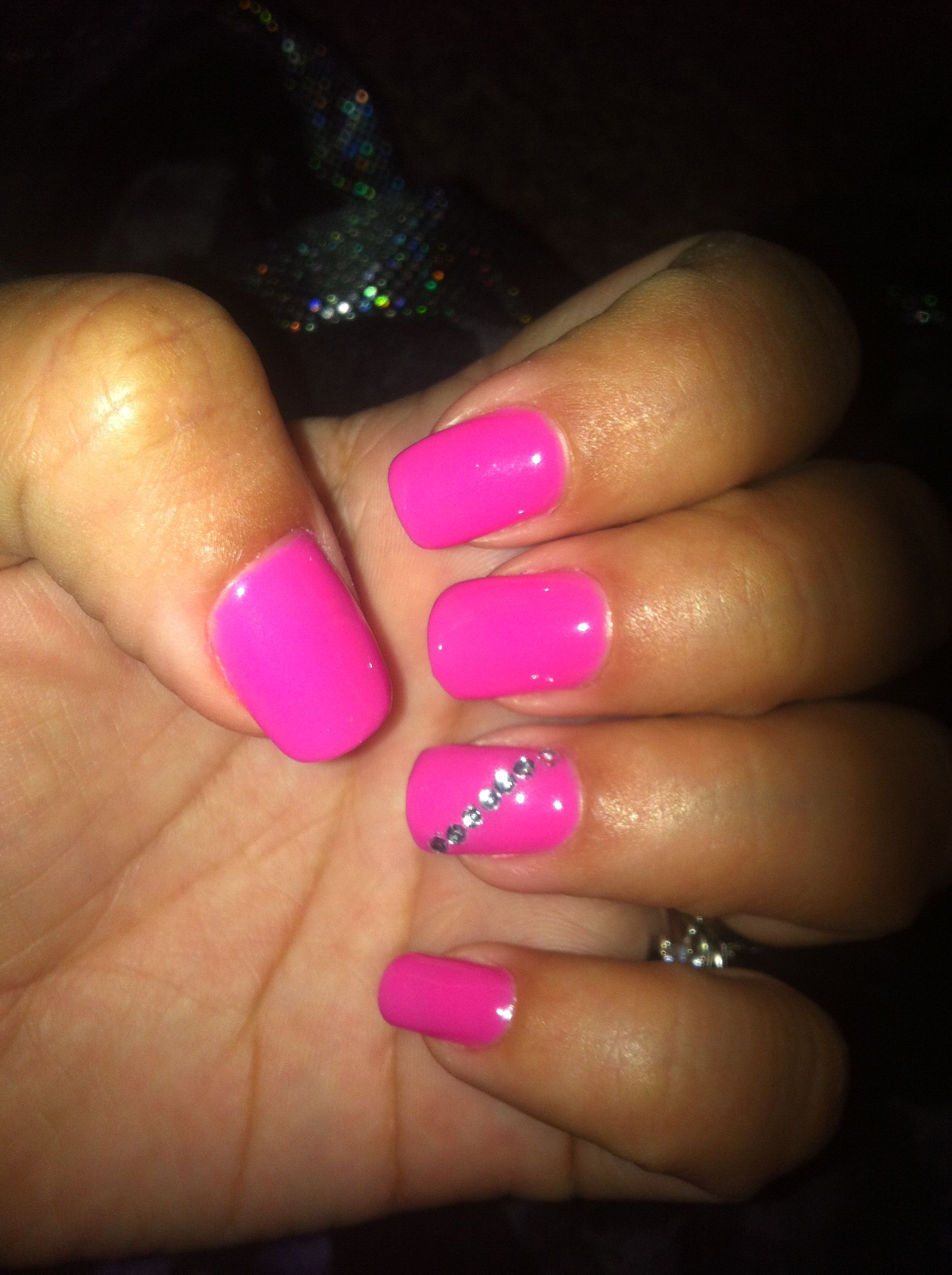 Shellac nails Strawberry mousse | Nails & hair | Pinterest