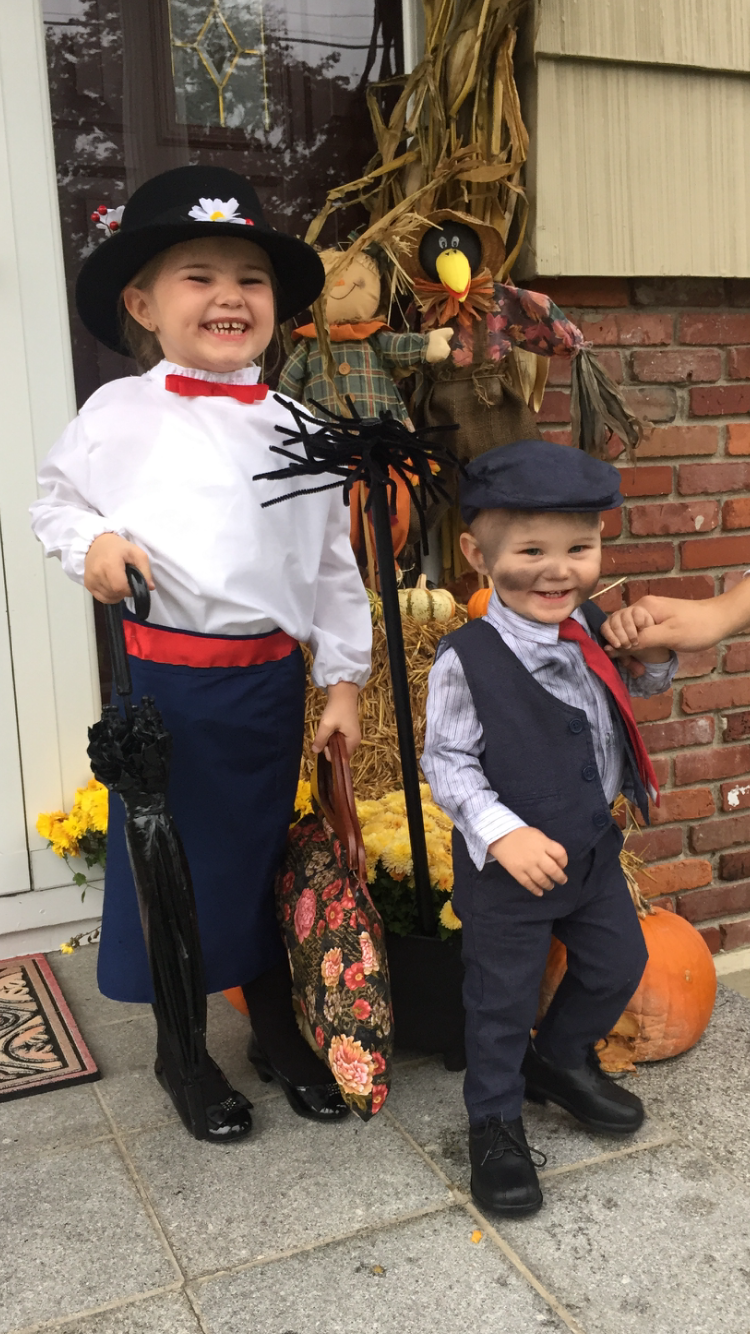 Halloween Costume Ideas For Family Of 3 With Toddler.Mary Poppins And Chimney Sweep Toddler Halloween Costume