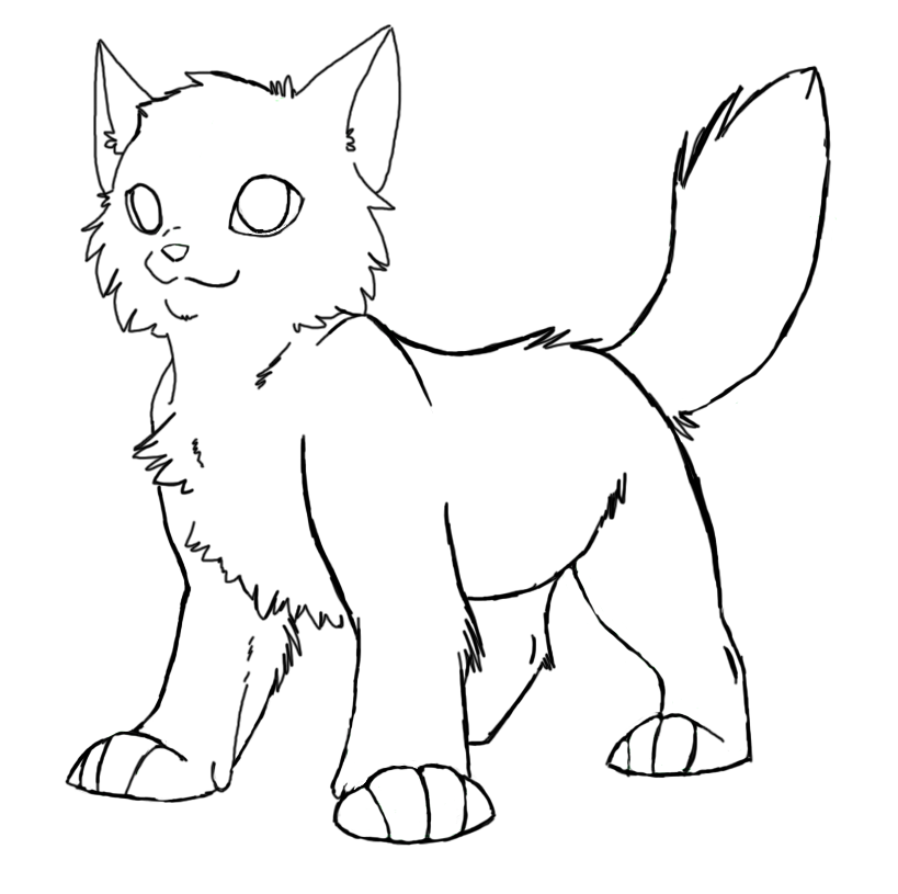 Awesome Looking Warrior Cats Printable Online Coloring