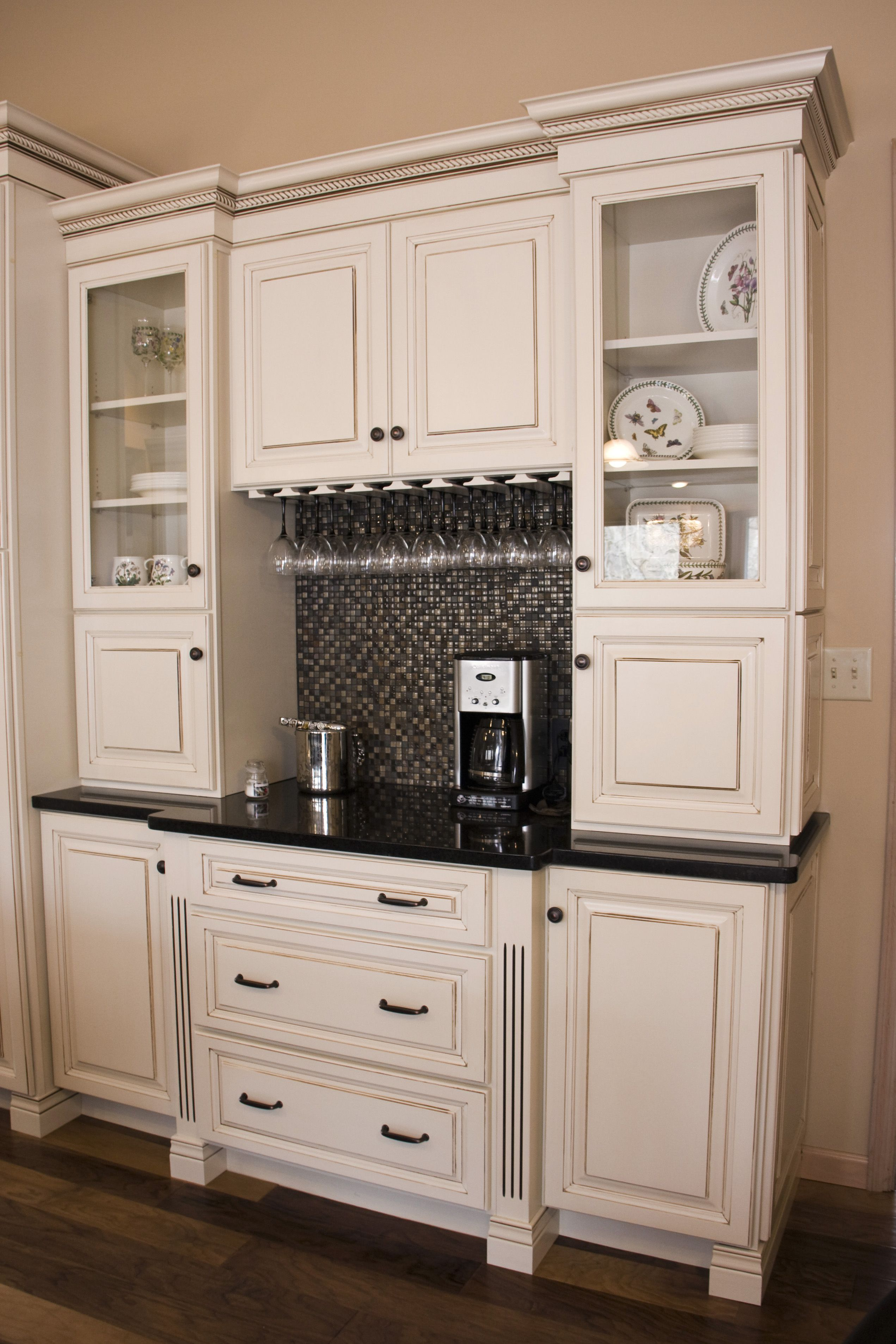 Custom Hutch In Kitchen