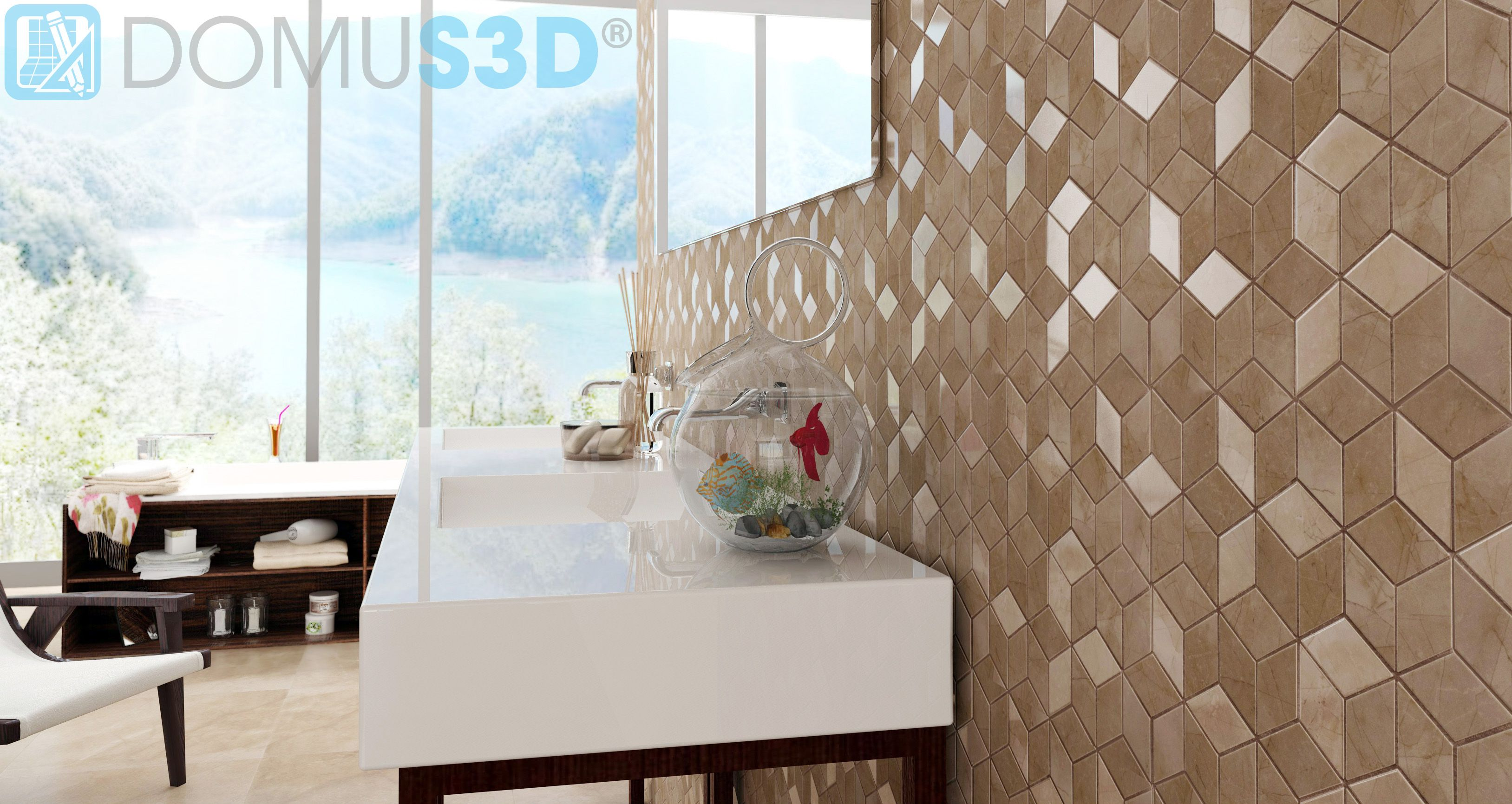 Gamma 2 Tiles Virtual Image Rendered With Domus3d And Mental Ray  # Muebles Vassily
