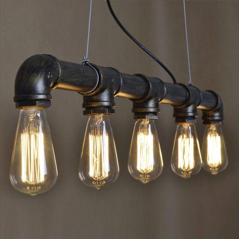 retro lighting pendants. Antique Brass Wrought Iron Water Pipe Suspension Light - Pendant Lights Ceiling Lighting Retro Pendants M