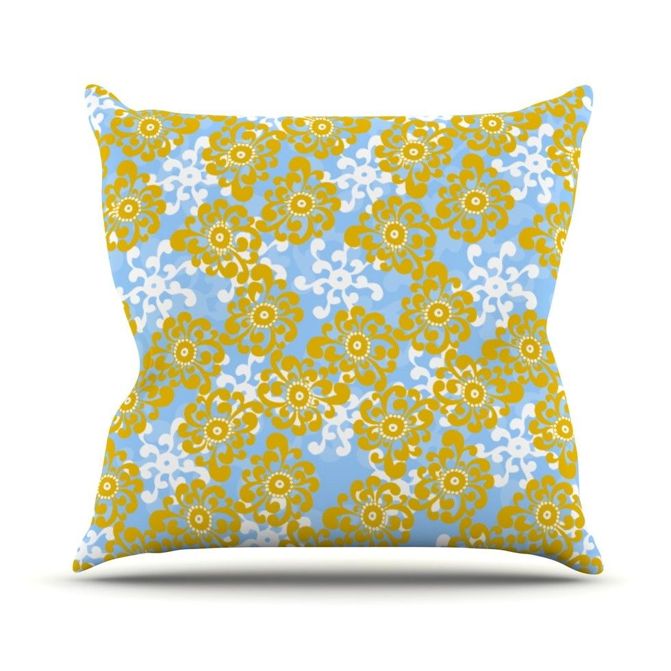 Flowers by Nandita Singh Outdoor Throw Pillow
