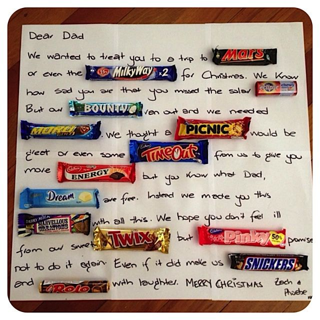 Neat Message With Mini Chocolate Bars From Catalina's Cottage