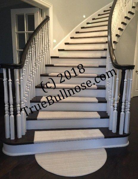 Best Curved Dark Stairs With Half Round Carpet Stair Treads 640 x 480