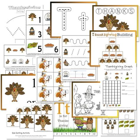 Number Names Worksheets preschool printables activities : 1000+ images about Thanksgiving Activities, Lessons, and ...