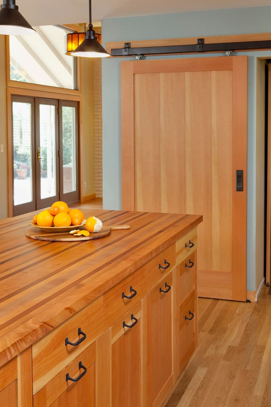 A 1950 S Home With All Original Finishes That Needed Upgrading Special Care Was Paid To Kitchen Remodel Wood Kitchen Cabinets Kitchen Cabinets And Countertops