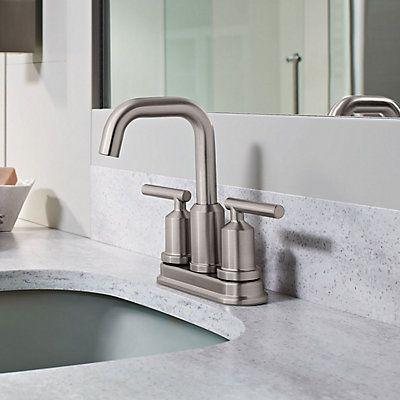 Bathroom Faucets Kelowna gibson 2 handle lavatory faucet - spot resist brushed nickel