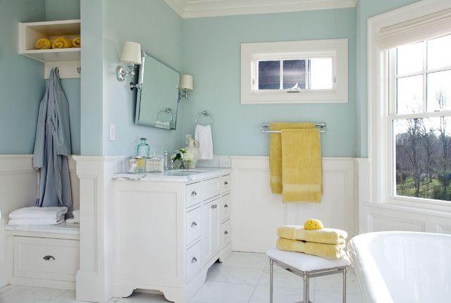 Yellow And Aqua Bath Yellow Bathrooms Blue Bathroom Paint
