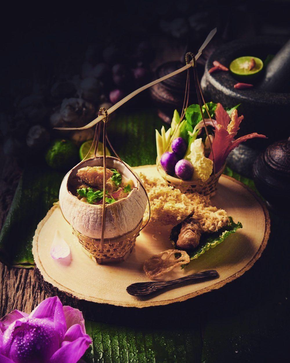 อาหารไทยโบราณชาวว งหาทานยาก Duaeg Rithi Food Stylish ภาพอาหาร การตกแต งจานอาหาร การถ ายภาพอาหาร