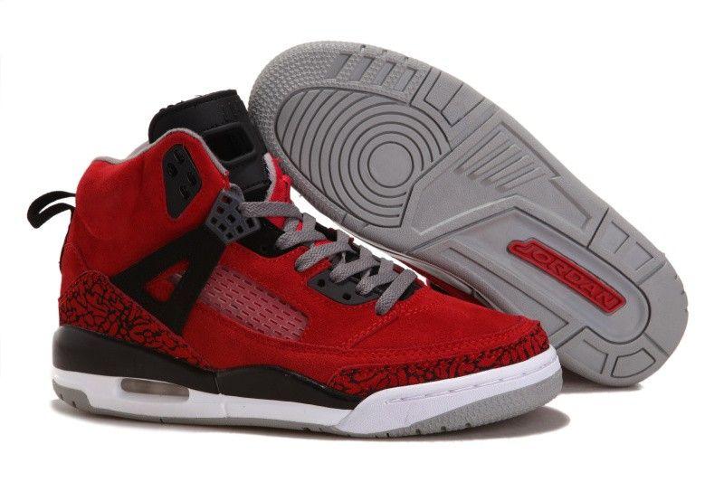 Air Jordan 3.5 Retro Fur Red Black Grey