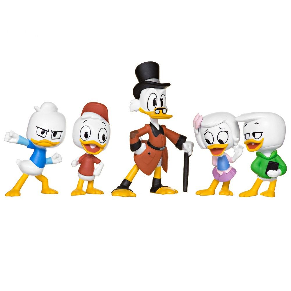 Nouveau Disney DuckTales Collection Figurine Pack Scrooge Webby Huey Dewey and Louie
