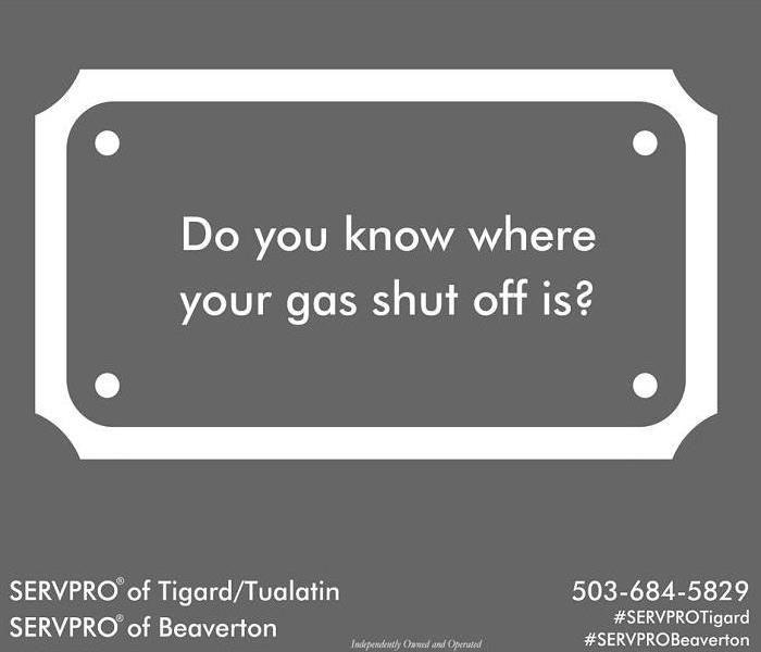 Fire Damage Gas Shut Off Tags Fire Damage Tigard Gas