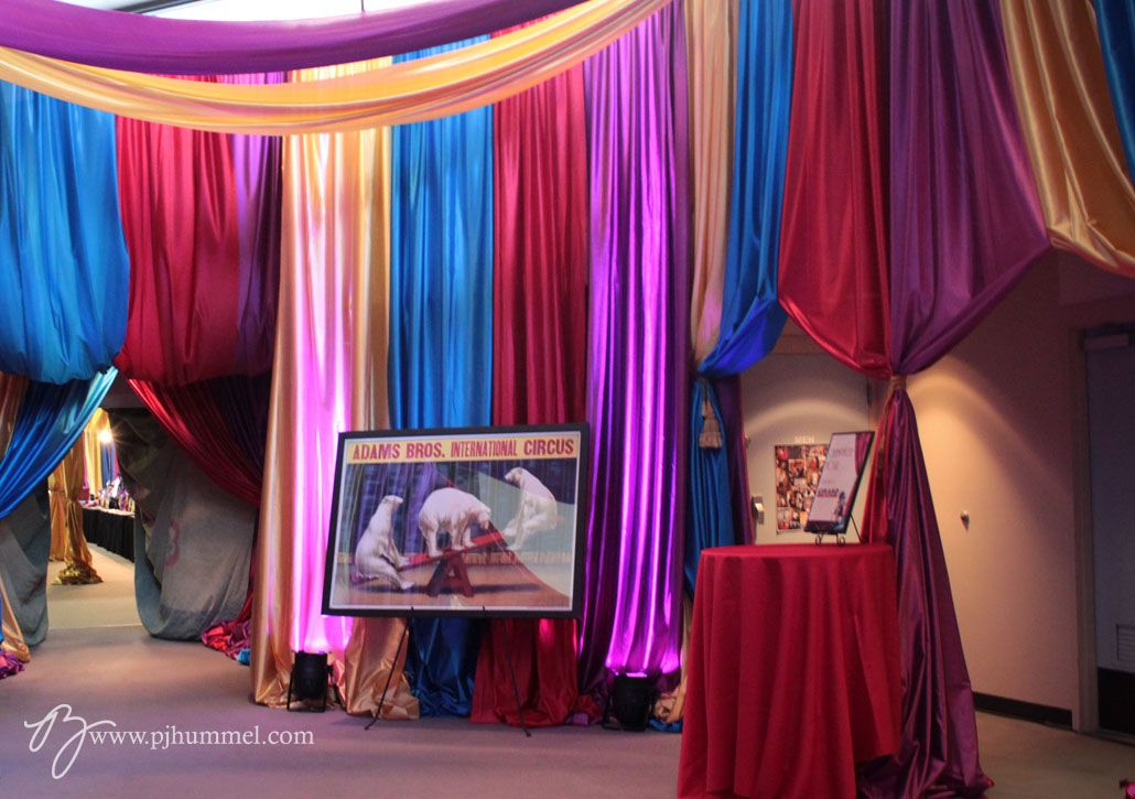 Circus Gala With A Tented Entryway And Vintage Posters PJ Hummel Co