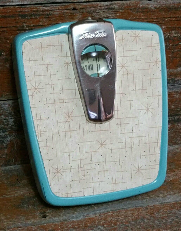Vintage Bathroom Scale Slim Trim Weigh Scale Mid Century Bath