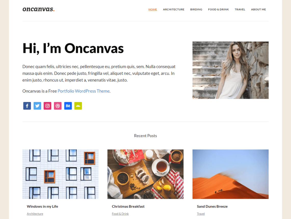 Oncanvas is a light and negligible diversion free portfolio template. It shows posts in a 3-section framework design, without a sidebar on the landing page and chronicle pages. Let's come...