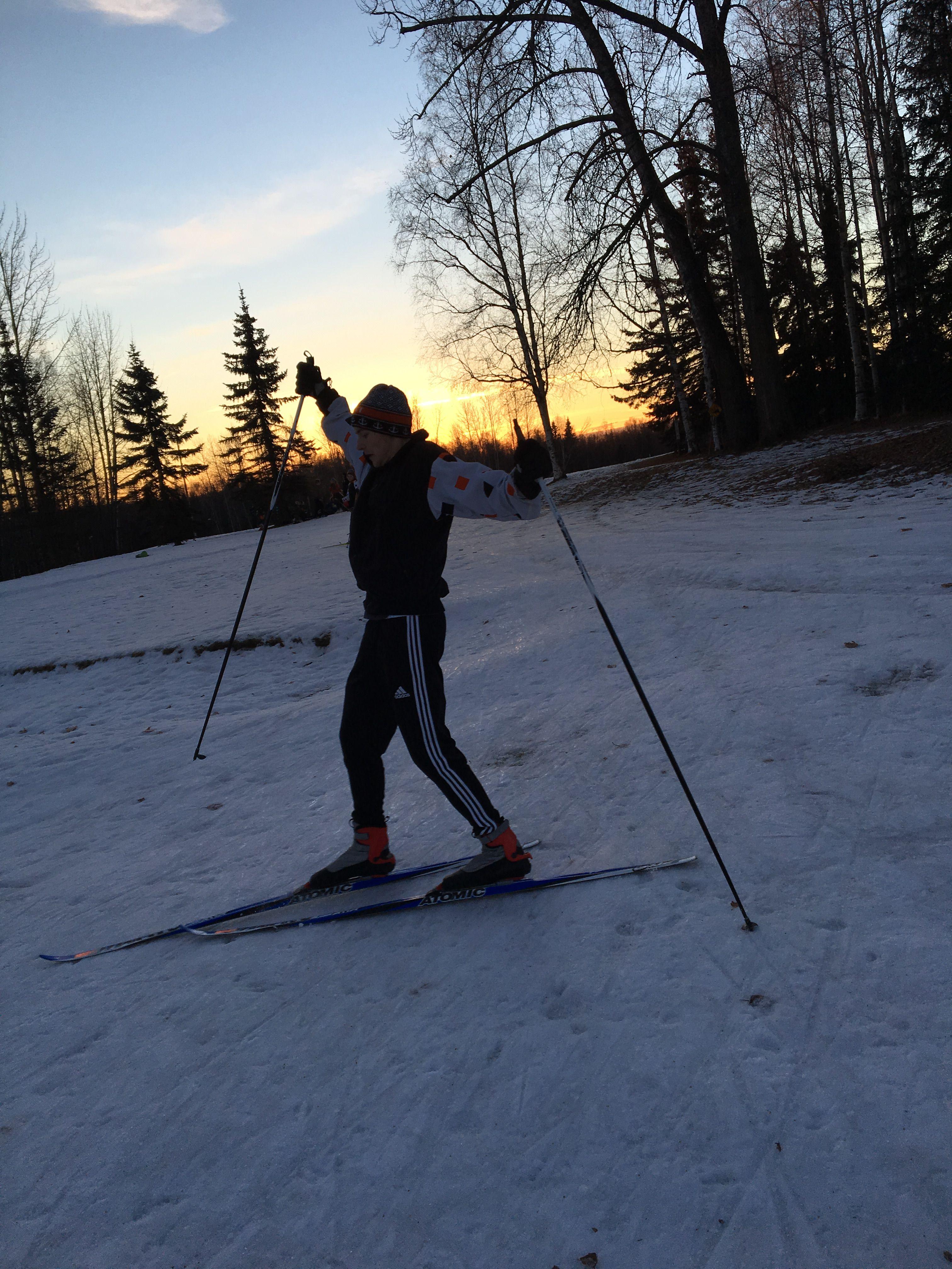 Anchorage Alaska Russian Jack Park Cross Country Skiing Cross Country Skiing Alaska Skiing