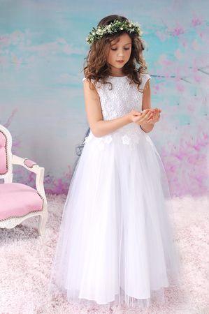 0c33169fd5 Sukienka Gipiurowa długa biała
