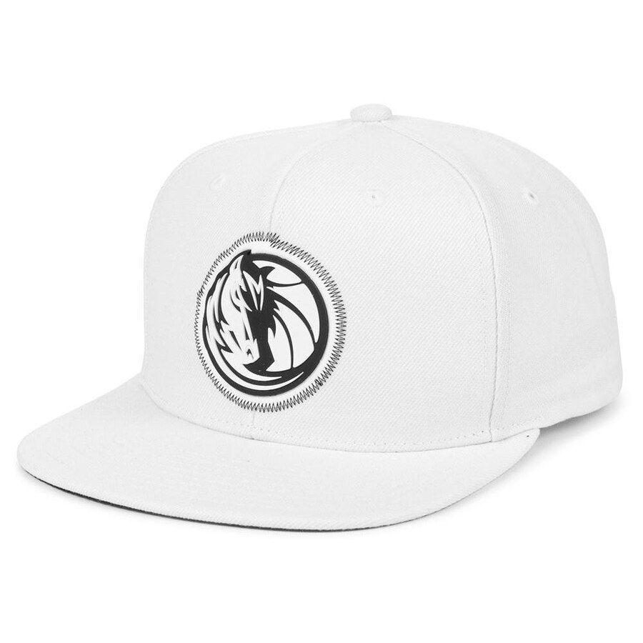 promo code 11584 ac875 Dallas Mavericks Mitchell   Ness Logo Zig Zag Snapback Adjustable Hat -  White, Your