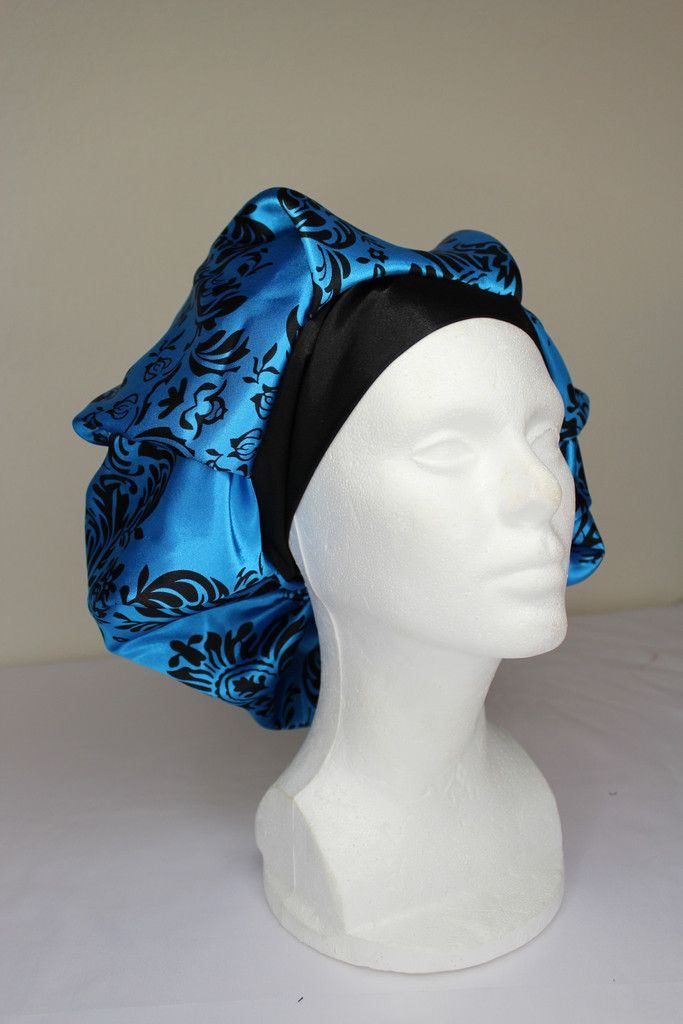 Blue Damask Bouffant