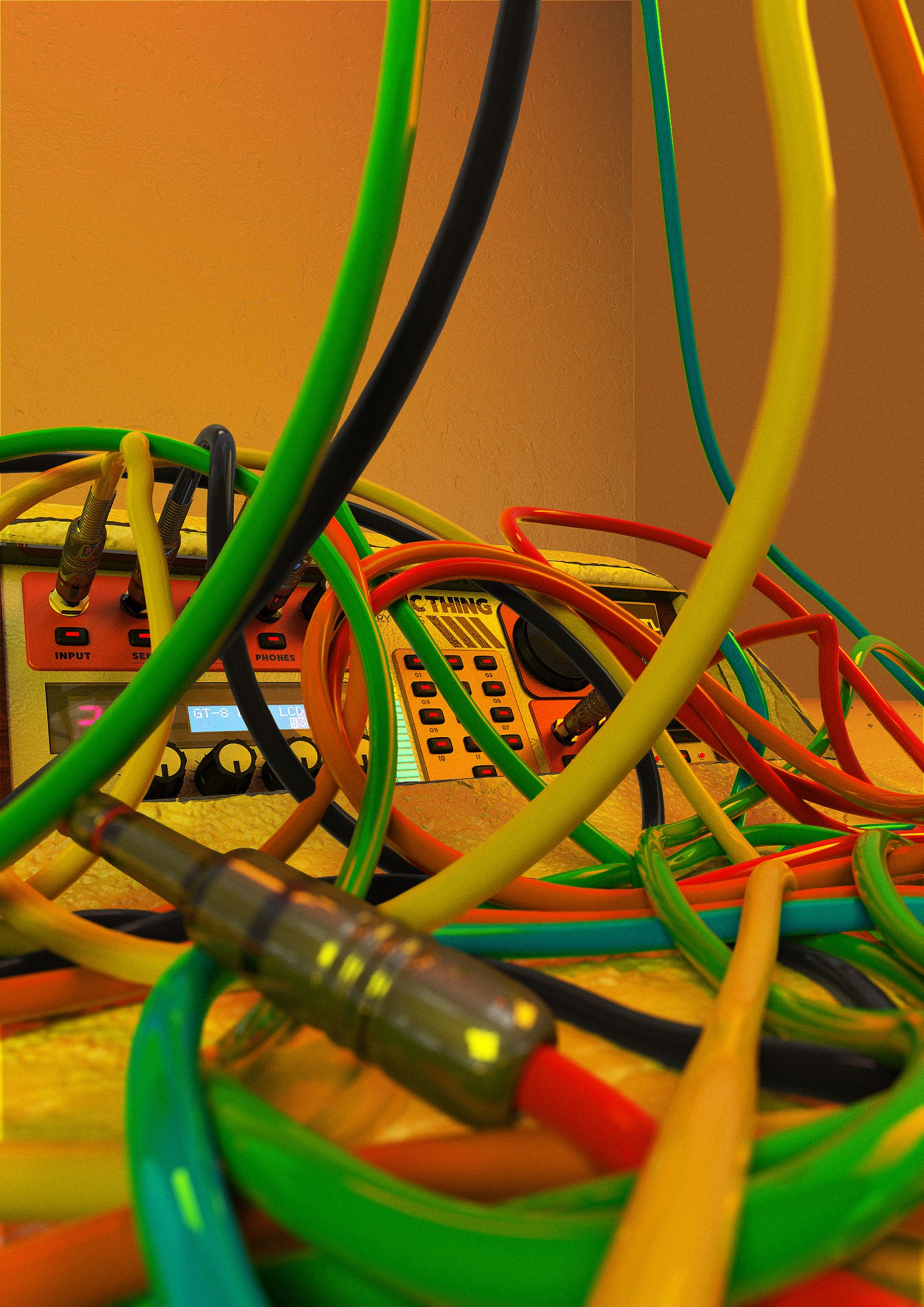 hight resolution of crazy wires experiments in spline dynamics