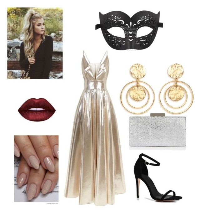 """""""Masquerade"""" by emily-maya ❤ liked on Polyvore featuring La Mania, Boohoo, Monsoon and Kenneth Jay Lane"""