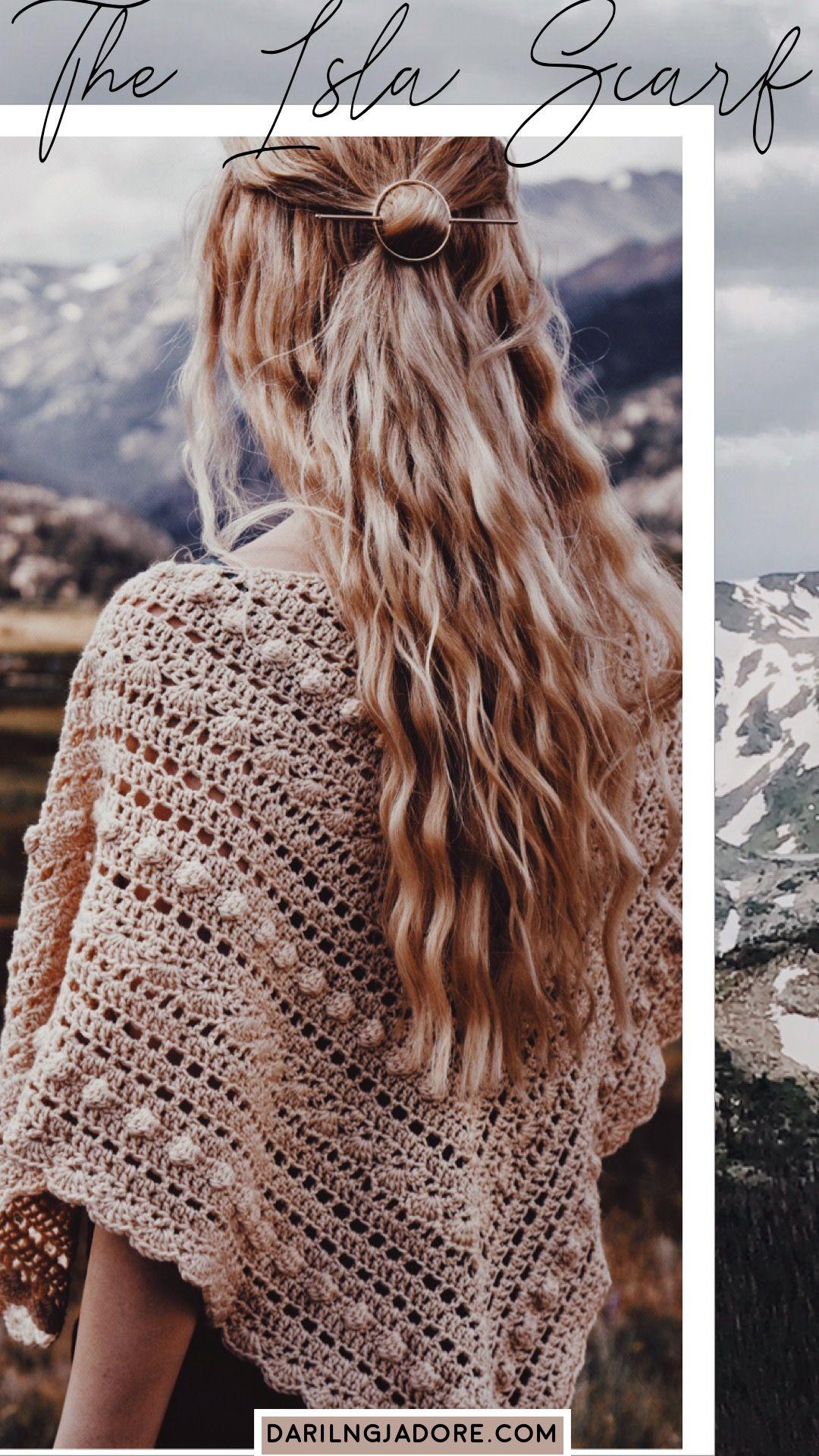 #Crochet Shawl Scarf Crochet Pattern by Darling Jadore |