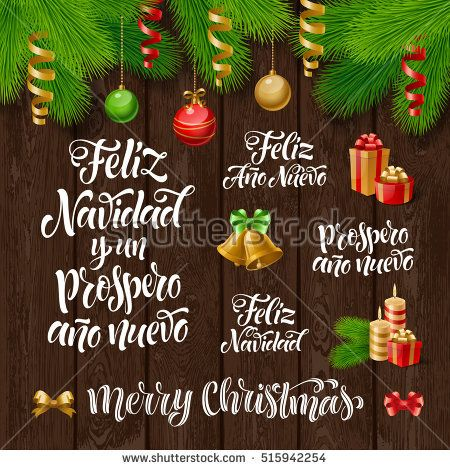 Vector spanish merry christmas and happy new year text feliz vector spanish merry christmas and happy new year text feliz navidad y un prospero m4hsunfo
