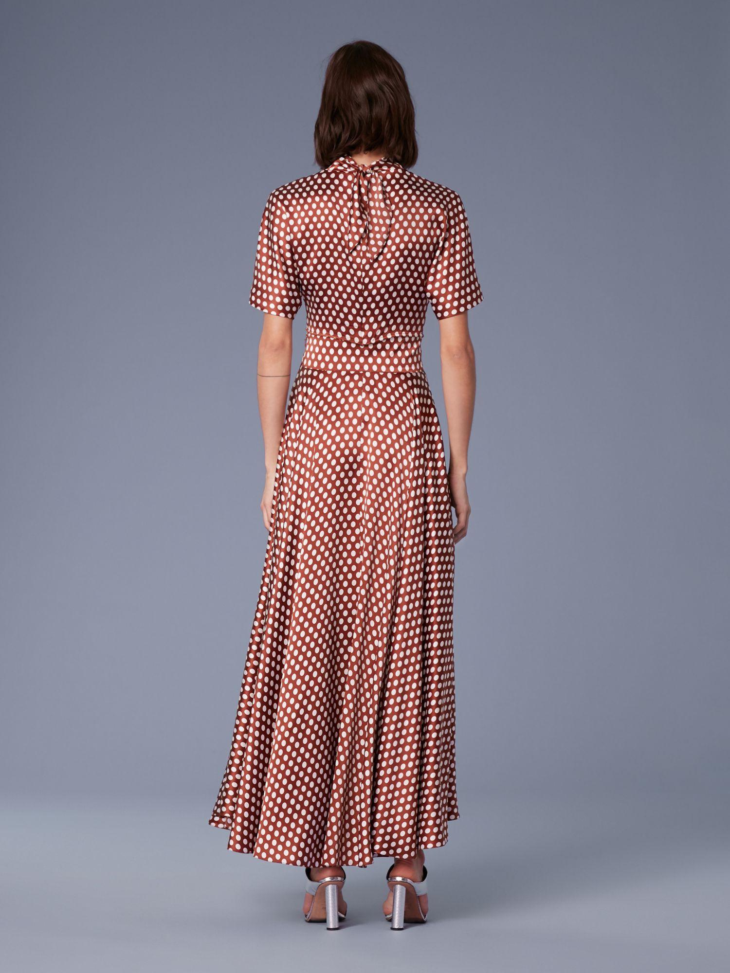 ecff6155218b4b Diane Von Furstenberg Dvf High-Waisted Draped Satin Maxi Skirt - 8 ...