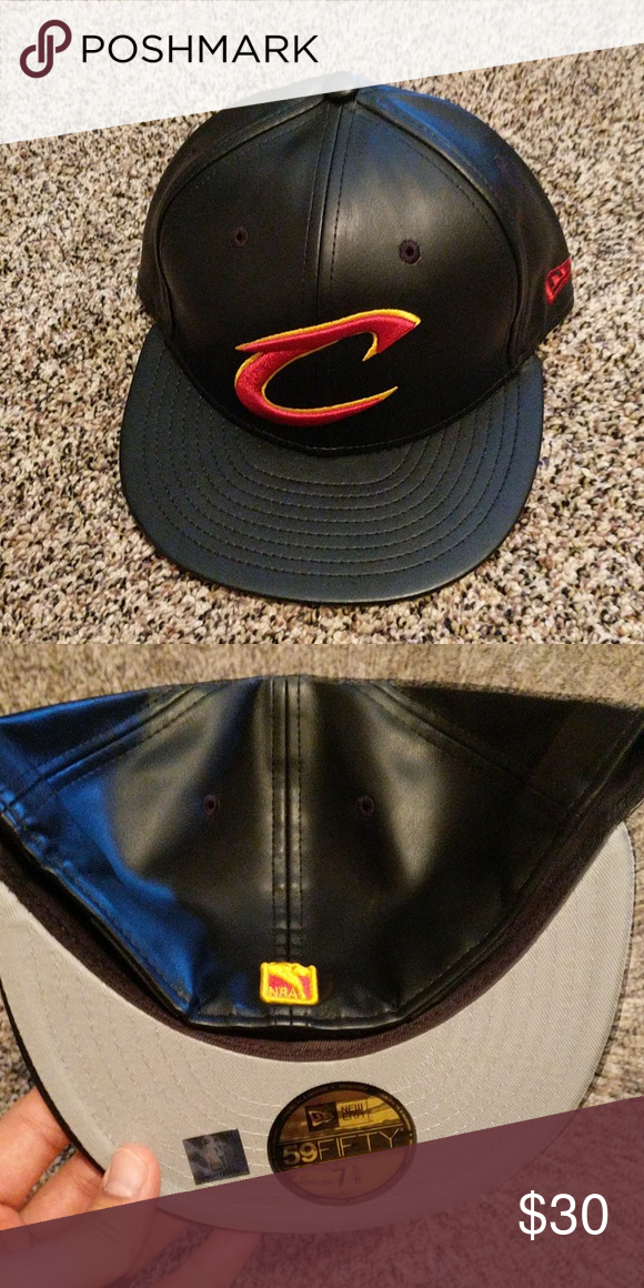 09eb2fc66bb Cavs leather hat 7 5 8 Great quality New Era Accessories Hats