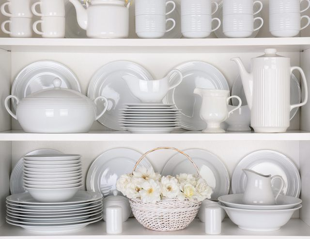 How to Arrange Dishes in a China Cabinet is part of China Cabinet Organization - A china cabinet is a functional piece of furniture that often gets ignored as a dust collector  With the right arrangement, though, your china cabinet can be the star of your dining room  The best part about your cabinet is that it allows you to show off the designs and patterns on your fine china or dinnerware  Remember that china cabinets aren't just for the fancy stuff