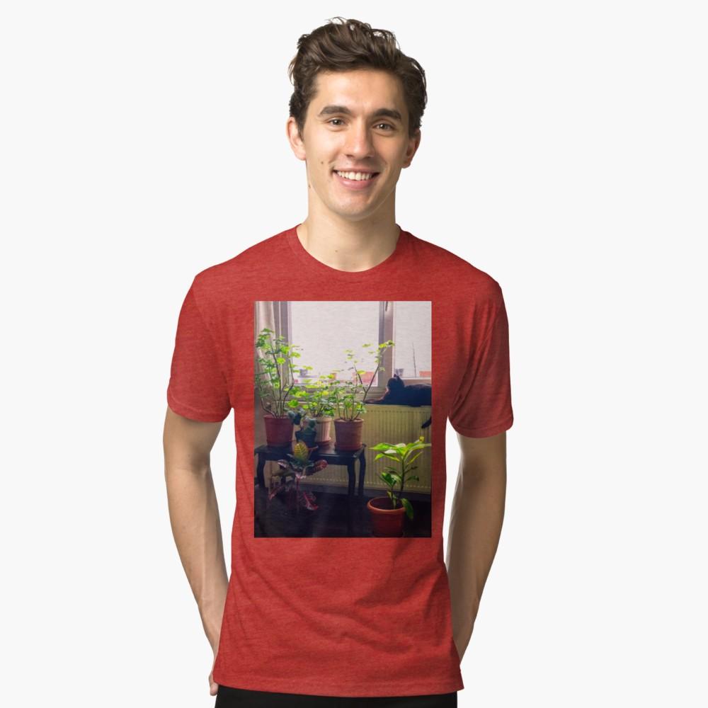 'Green & Black Cat' TShirt by BennEmm Mens tshirts