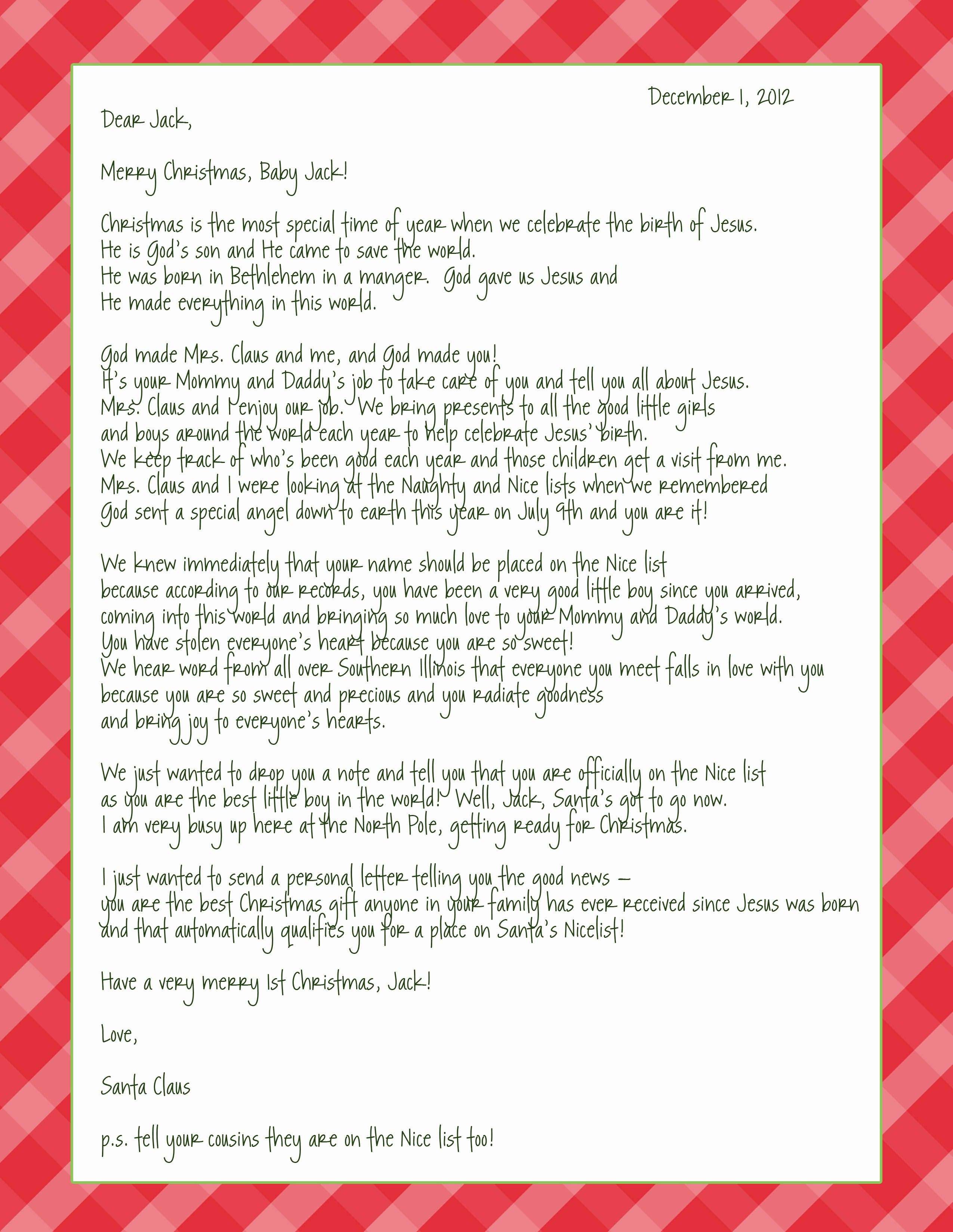 Santa letter spreading the word of jesus birth christmas letter from santa spreading the good word of jesus birth 4 different letter templates that can be fully changed to your liking personal details spiritdancerdesigns Image collections