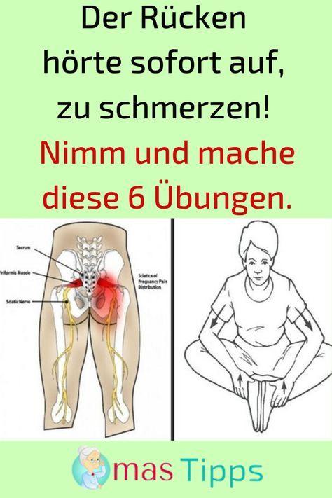 Der Rücken hörte sofort auf zu schmerzen! Machen Sie diese 6 Übungen. # EIN …