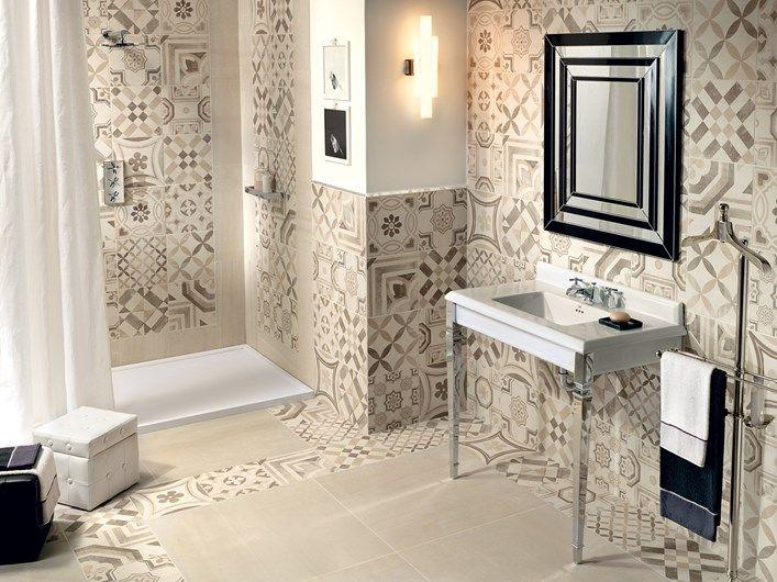 Gres porcellanato cementine il fascino delle tradizionali piastrelle in cemento decorato - Ceramiche bagno prezzi ...