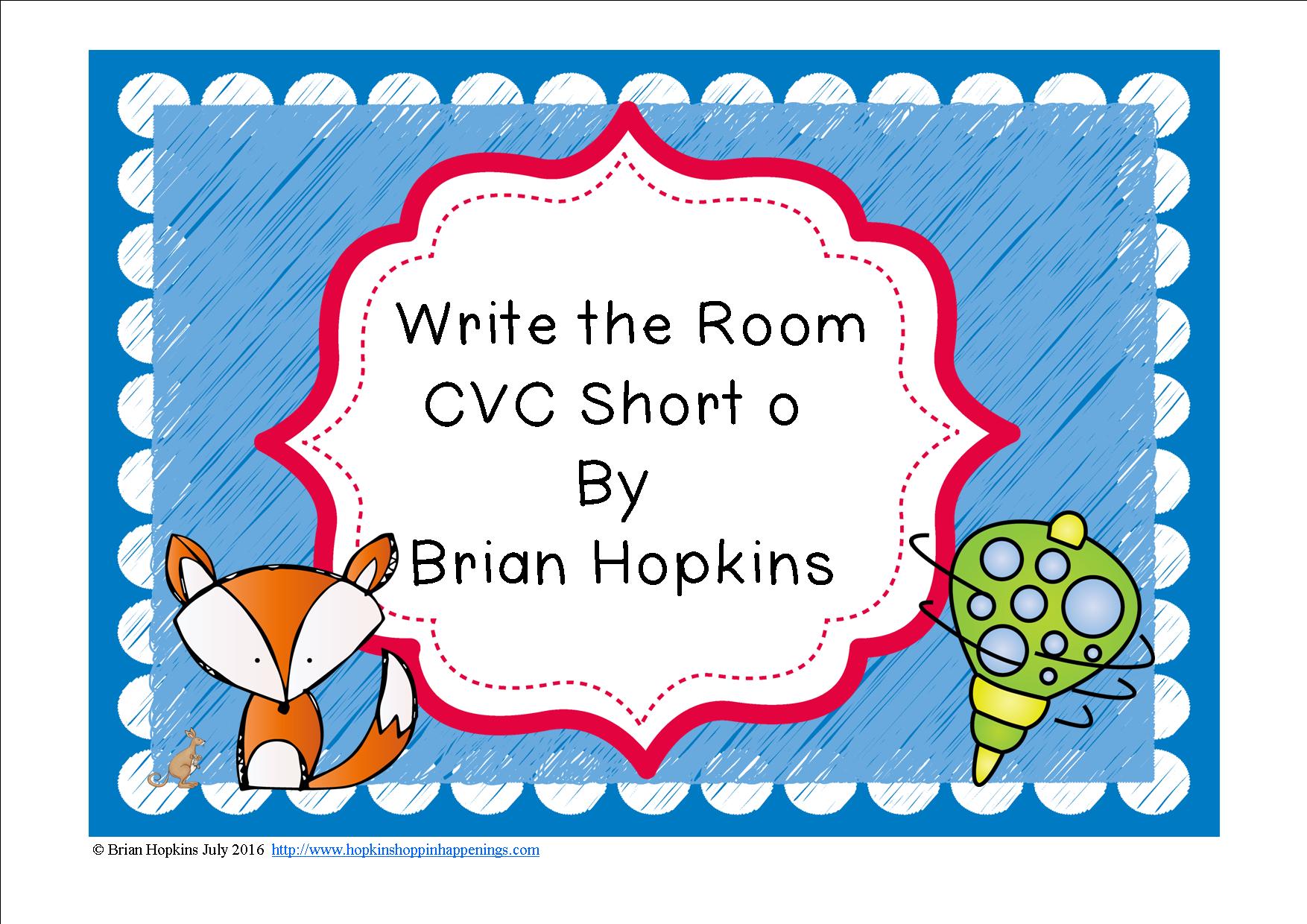 Write The Room Short O Words
