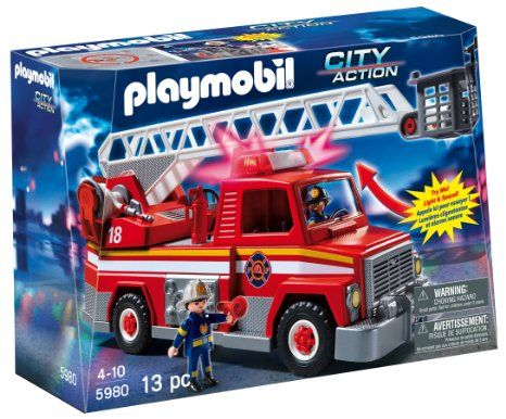 Playmobil camion de pompier 5980 city action secours - Playmobil pompiers ...
