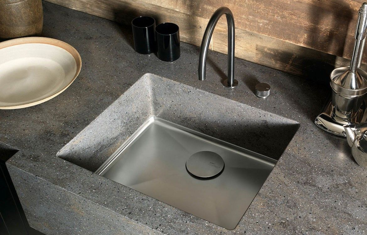 Corian Casf Undermounted Sparkling Sinks Indesignlive Collection Corian Sink Contemporary Kitchen Tables Corian