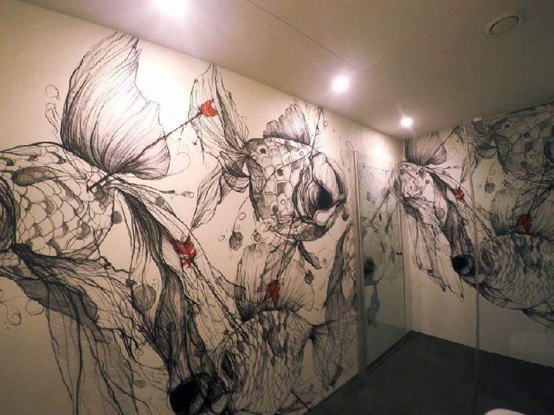 Aufsehen erregender WOW-Effekt und schmeichelnde Materialien in - badezimmer ohne fliesen