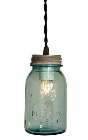 Mason jar pendant smoke pinterest vintage ball perfect blue mason jar pendant barn light electric co aloadofball Gallery